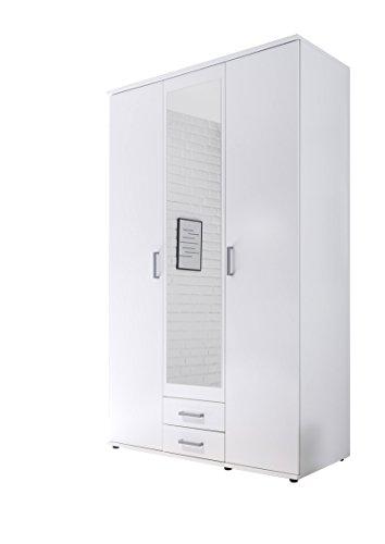 AVANTI TRENDSTORE - Drehtürenschrank weiß, ca. 120x195x55cm