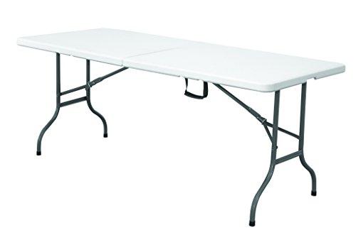 Expand Klapptisch 183cm Weiß - Buffettisch, Gartentisch, Campingtisch, Partytisch - Klappbar - Wasserfest - Kunststoff