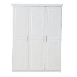 3-türiger Kleiderschrank MAGNUS in weiß