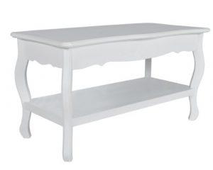 vidaXL Couchtisch Wohnzimmertisch Tisch Pinie voll massiv Holz weiss 2