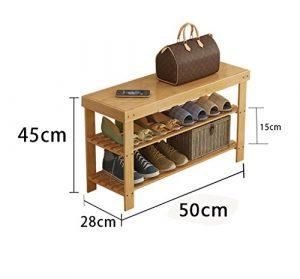 Schuhschrank für den Haushalt Einfache Schuh Regal Multilayer Staubdicht Massivholz Bambus Lagerung Wirtschaft Home Schlafsaal Schlafsaal Montage Wohnzimmer Schuhschrank Einfacher Schuhschrank ( größe : 50 cm )