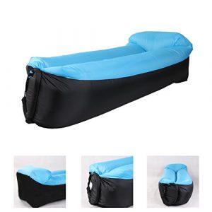 Saibit Aufblasbares Sofa, wasserdichtes Sitzsack wasserdichtes air Lounger aufblasbare couch Outdoor Sofa Luftcouch für Camping (Blau)