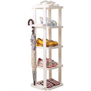 Weißer Schmaler Schuh-Lagerregal-vertikaler Regal-Organisator-Halter Für Eingangs-Tür-Hallen-Badezimmer-Tier 5