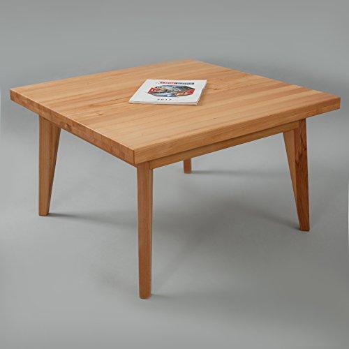 Krok Wood Hans Buche Couchtisch Massivholz Natur 100% 75x75x45 cm Beistelltisch