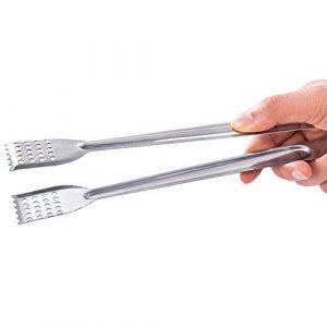 yhlve 1 stück Brot Essen Zange Küche Buffet Kochen Edelstahl Werkzeug Anti Wärme Brot Clip Gebäck Clamp Barbecue Zange