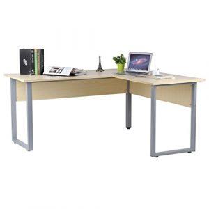 Blackpoolal L-form Schreibtisch Eckcomputertisch Eckschreibtische Computerschreibtisch Eckschreibtisch Bürotisch Computertisch Winkelkombination Holz Tisch 160 x 140 x 74cm