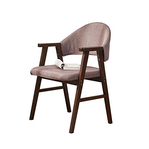 LHA Holzstuhl Home Esszimmerstuhl Büro Computer Stuhl Freizeit Zurück Schreibtischstuhl Einfache Wohnzimmer Stuhl (Farbe : Natural color)