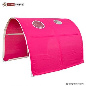 Homestyle4u Kinder Tunnel Bed Design, Holz,,, holz, rot, 100 x 90 x 70 cm