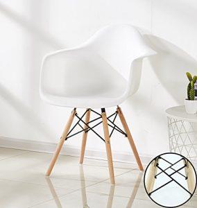 P & N Homewares Romano Armchair Tub Stuhl Esszimmerstuhl in Weiß Skandinavischer Designstuhl