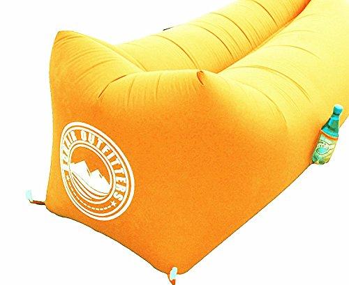 JaMa24 , Luftsofa, Air Lounger, orange, bis 200kg