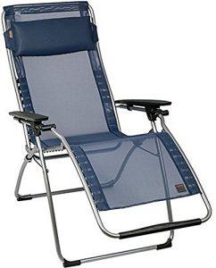 Lafuma Relax-Liegestuhl, klappbar und verstellbar, Futura Batyline, ocean, 50,8 x 5,1 x 50,8 cm