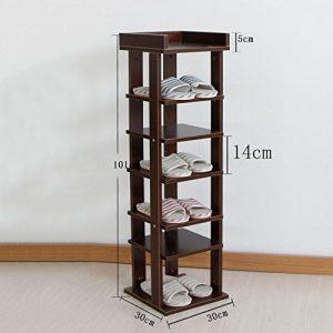 YXX- Massivholz Schuhschrank Shoebox Pflanze Blumenständer Staubdicht Lagerregal Bücherregal Wasserdicht Kaffee Farbe Schlafzimmer Montage Foyer Wohnzimmer Büro Balkon Hof ( größe : 30*30*101cm )