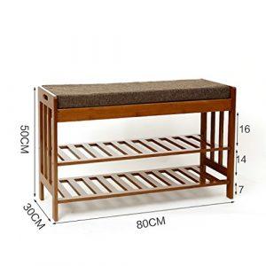 ZSHxj Natürliche Bambus für den Schuh Hocker einfache Sofa Hocker Haushalt Stuhl Hocker Nanzhu Schuhschrank (größe : 80cm)