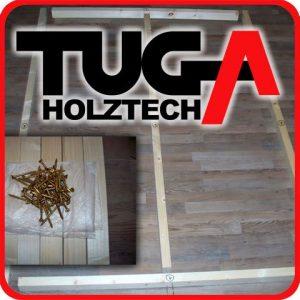 TUGA – Holztech Naturholzrahmen für Rollroste passend für alle Betten ohne Auflagerleisten geeignet inkl Schrauben, ideal auch als tiefes Bettgestell zu verwenden