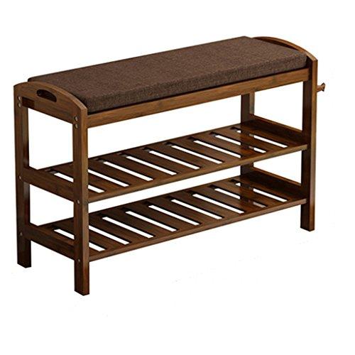 Europäische Schuhe Rack Schwamm Schuhe Bank kann sitzen Bambus einfache Haushalt Tür Schuhschrank Shoebox (größe : Length50cm)