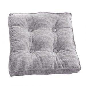 Kingko® Home Indoor Pure Farbe Leinen Kissen Abnehmbare Tatami Mat bequeme Bürostuhl Sitzpolster (C)