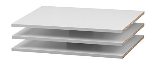 3 x Regalböden für Verona Schwebetürenschrank inkl. Montagestifte