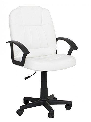 Bürodrehstuhl schwarz/weiß (Weiß)