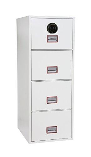Phoenix Safe Company fs2254F World Class Vertikal Fire Datei 4Schubladen Aktenschrank mit Fingerprint Lock, Metall, weiß