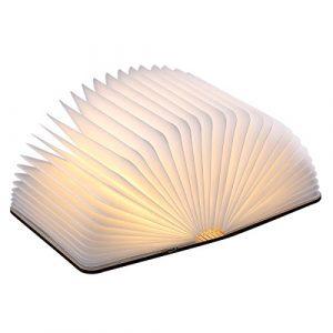 Buchleuchten Nachtlicht,Kreative LED Faltbare Buch Lampe USB-nachladbares wasserdichtes bewegliches Nachtlicht, Tisch, Boden, Decke und Bett Dekor oder Beleuchtung Lampe Lichter (Warm White_Big Maple)