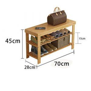 Einfache Schuh Regal Multilayer Staubdicht Massivholz Bambus Lagerung Wirtschaft Home Schlafsaal Schlafsaal Montage Wohnzimmer Schuhschrank ( größe : 70cm )