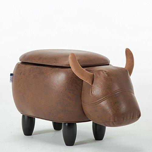 Nclon Hocker Sessel Lämmer Make-up Hocker Haushalt Schuhe Hocker Dressing Hocker Sofas Hocker Puffs Sattel Sitz,Einzigartige Tier Modellierung,Eine Vielzahl der Farbe Optionen,mit Storage Funktion-D