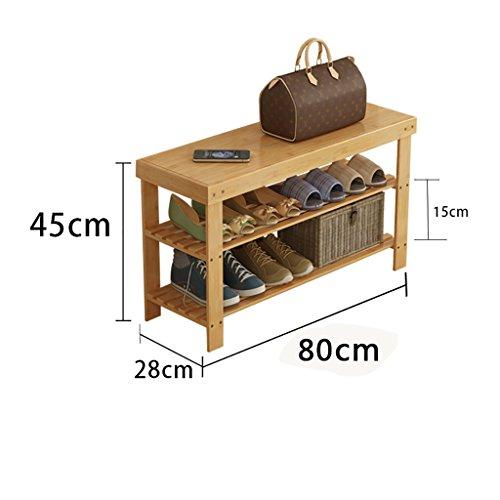 Einfache Schuh Regal Multilayer Staubdicht Massivholz Bambus Lagerung Wirtschaft Home Schlafsaal Schlafsaal Montage Wohnzimmer Schuhschrank ( größe : 80cm )