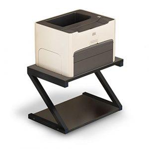 Zheng Hui Shop Kreative Multi-Layer-Rack Doppel-Desktop-Speicher-Rack, schwarz (Size : 45cm/17.7inch)