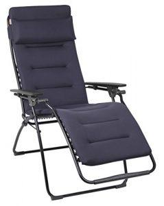 Lafuma Relax-Liegestuhl, Klappbar, Stufenlose Verstellung, Stahlkonstruktion, Air Comfort, Futura, dunkelblau
