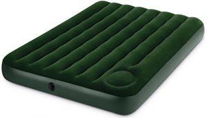 Intex 66928 Luftbett Downy Green Full mit Fußpumpe, 137 x 191 x 22 cm