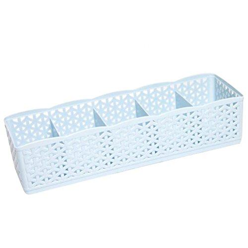 Krawatte Socken Unterwäsche Kosmetik Organizer Aufbewahrungsbox Schublade Trennwand Wandregal Hohl Box Zubehör blau