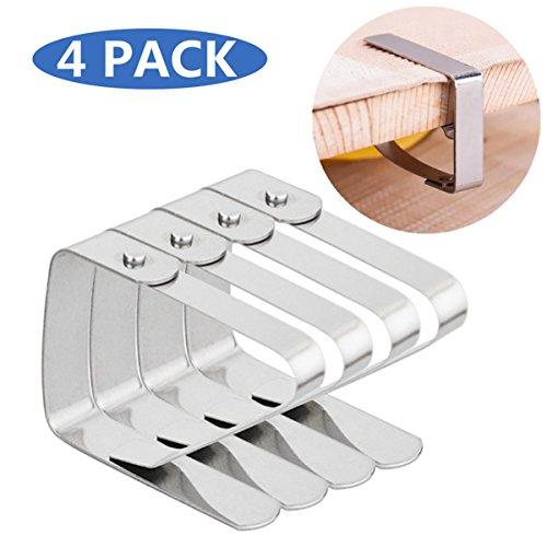 25mm Tischtuchklammern aus Edelstahl Tischdeckenklammer Tischdecke Clips Klammer Befestigen Tischtuch Clips Rostfreiem Stahl für Tischdecken Halter Tischdeckenklammern Set Metallklammern Klammern