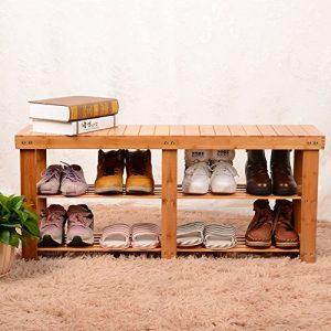 WEI XX Europäischen Stil Moderne Einfache Multi Storey Bambus Schuhschrank Schuh Hocker Bence,99 cm