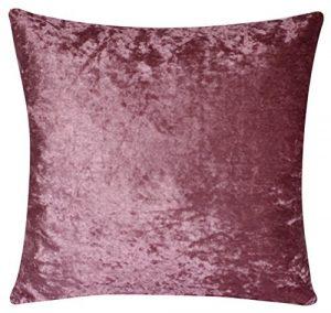 Bullahshah Solide Farben Zwei seitige Samt Ebene Farben Üppige Samt 18 X 18 Kissenbezüge für Sofa Bett Couch (Pastell Rosa)