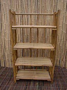 Bambusregal Bücherregal Bambusmöbel Badregal Schuhregal Wandregal Regal Bambus 120 x 60 x 30 cm