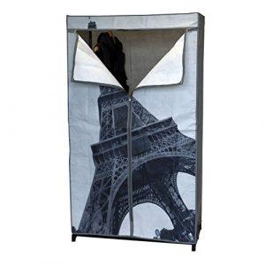 Wohaga Faltschrank Paris 87x45xH156cm mit Kleiderstange Campingschrank Stoffschrank Kleiderschrank Faltbar