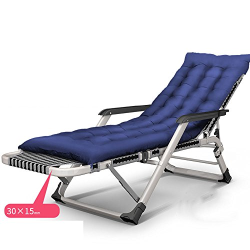 FEIFEI Deckchairs Reclining Folding Sun Garten Terrasse Lounge Chair Lounge Chair, Bürostuhl Lunch Break Chair, Computer Stuhl, Balkon Lounge Chair, faulen Stuhl, Armlehne Stuhl, Outdoor Beach Chair, Sonnenliege, (Farbe: A) Zusammenklappbar