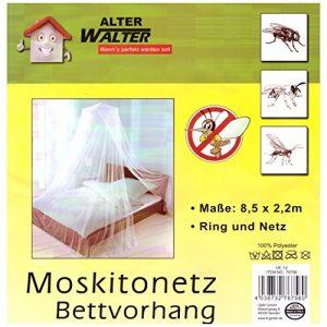 Moskitonetz 8,5×2,2m Einzelbett Mückenschutz Fliegen Netz Schutz Baldachin