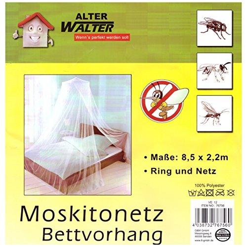 Moskitonetz 8,5x2,2m Einzelbett Mückenschutz Fliegen Netz Schutz Baldachin