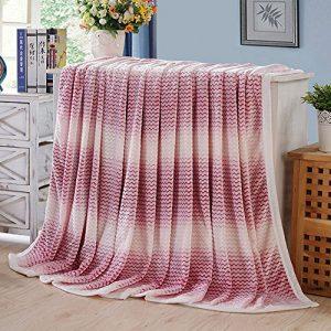 shinemoon Luxus Super Sofa Home warme Decke Überwurf für Bett, Couch Outdoor-Reise Camping Decken für kalte, 100 % Polyester, rot / weiß, 150x200cm