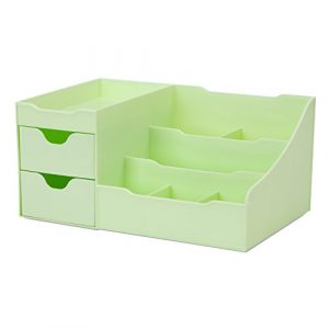 Uncluttered Designs Make-up Organizer Mit Schubladen (2 Schublade, Grün)