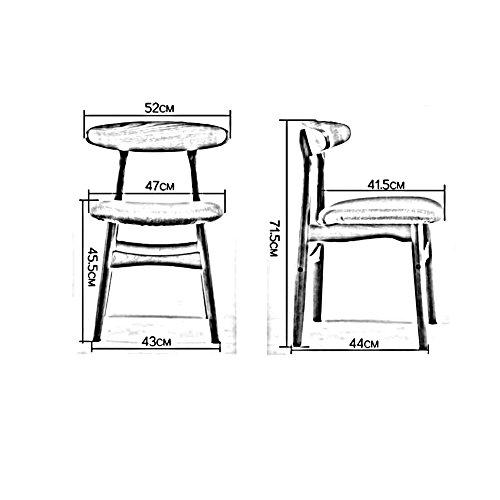 Klapptisch XUERUI Stuhl aus Massivem Holz Rückenlehne Stuhl PU Weiches Kissen Familie Esszimmerstuhl Schlafzimmer Schreibtischstuhl Cafe (Farbe : Beige)