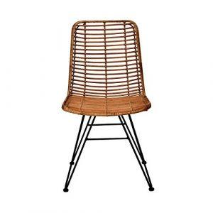 Butlers Hacienda Rattan-Stuhl – Schöne Sitzgelegenheit in Modernem Design – Wohnideen für Küche Oder Esszimmer – aus Rattan und Eisen