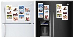 Weiß Magnetische Bilderrahmen Collage für Kühlschrank, Schule Locker, Datei Schrank, Werkzeugkoffer, oder Dry Erase Boards. Hält 12–10,2x 15,2cm Fotos. 4er Pack. Jeder Rahmen Collage 3Fotos. Benutzerdefinierte von Arrangieren Rahmen Sie Ihren Weg. Schutz Ihrer Fotos und Erinnerungen Zuhause, Arbeit Oder Schule. Einfach Bilder zu ändern.