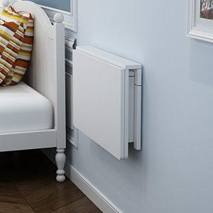 Wandtisch Wandklapptisch HWF Klappbare Wand-Drop-Blatt-Tisch Esszimmer Computer Schreibtisch Couchtisch Space Saver Falten Cabrio Weiß (größe : 60 * 40cm)