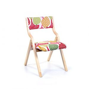 XUERUI Klappstuhl Holzstuhl Rückenlehne Stuhl Weiches Kissen Stoff Schlafzimmer Restaurant Cafe Schreibtischstuhl (Farbe : 9)