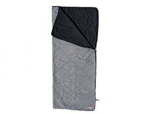 Grüezi-Bag WellhealthBlanket Wool, 170 x 200cm, Woll-Füllung, Universal-Schlafsack für Couch, Balkon, Camping, Wohnwagen, ca. 900g, silbergrau-meliert