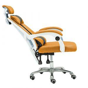 WQ-Deckchairs Drehstuhl Bürohaus höhenverstellbar Verstellbarer ergonomischer Schreibtischstuhl Drehbarer Bürostuhl 360 ° Doppeltes Kissen Armlehne Rückenlehne 120kg