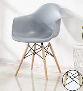 P & N Homewares Romano Sessel Tub Stuhl Esszimmerstuhl in Grau Skandinavischer Design Stuhl