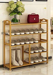 ZXXG Schuhschrank für Den Haushalt Schuhständer Nanzhu Home Stiefel Schuhschrank Montage Moderne Lagerung Racks Multifunktionale Bambus Regale Einfacher Schuhschrank (Farbe : B, Größe : 80cm)